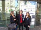 Finaliści z technikum organizacji reklamy na gali ogólnopolskiego konkursu Przedstawicielstwa Komisji Europejskiej w Polsce